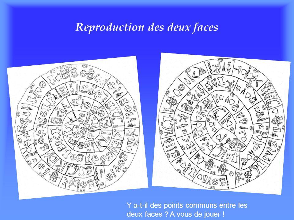 Reproduction des deux faces Y a-t-il des points communs entre les deux faces ? A vous de jouer !
