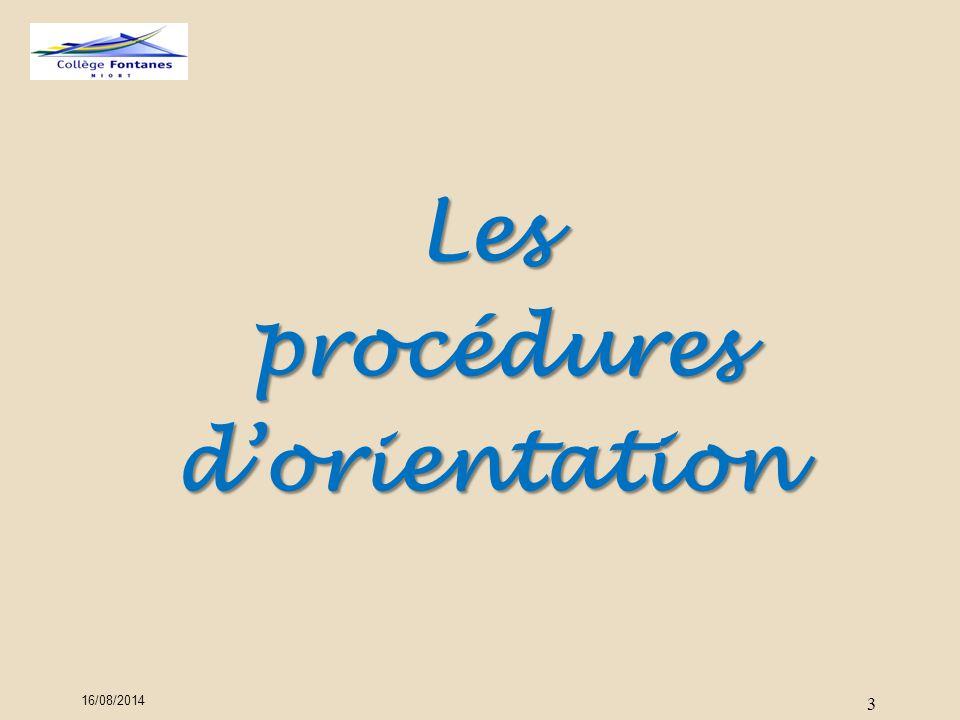 3 Les procédures procéduresd'orientation