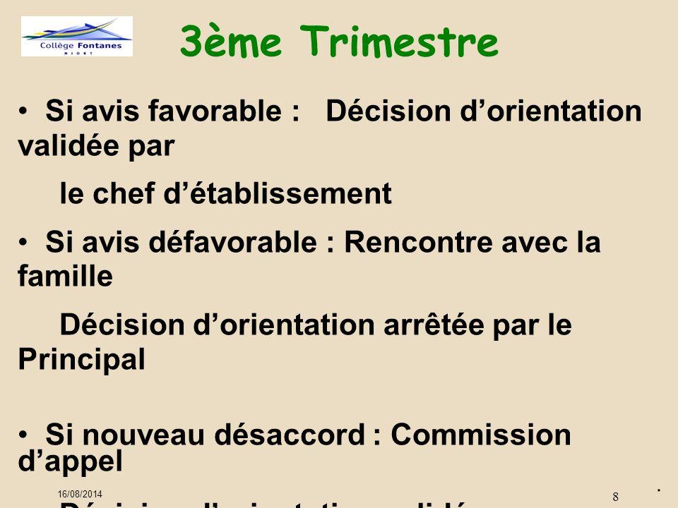 16/08/2014 8 3ème Trimestre.
