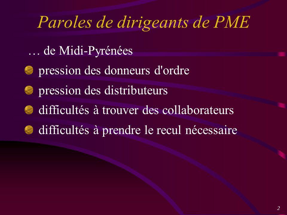3 Que peut apporter l I.E.aux PME .