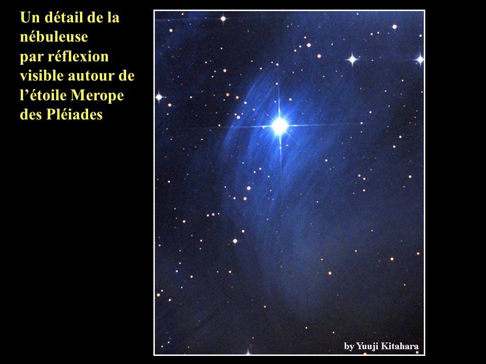 Un détail de la nébuleuse par réflexion visible autour de l'étoile Merope des Pléiades