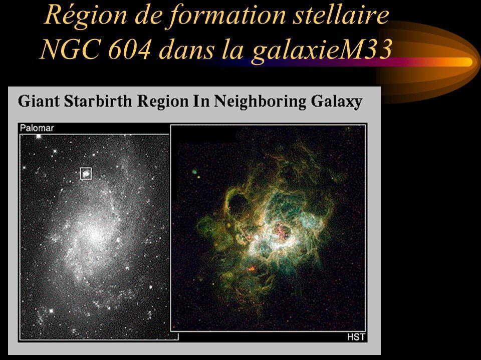 Région de formation stellaire NGC 604 dans la galaxieM33