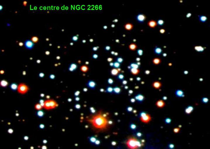 Le centre de NGC 2266
