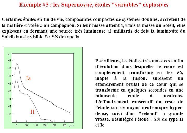 Exemple #5 : les Supernovae, étoiles