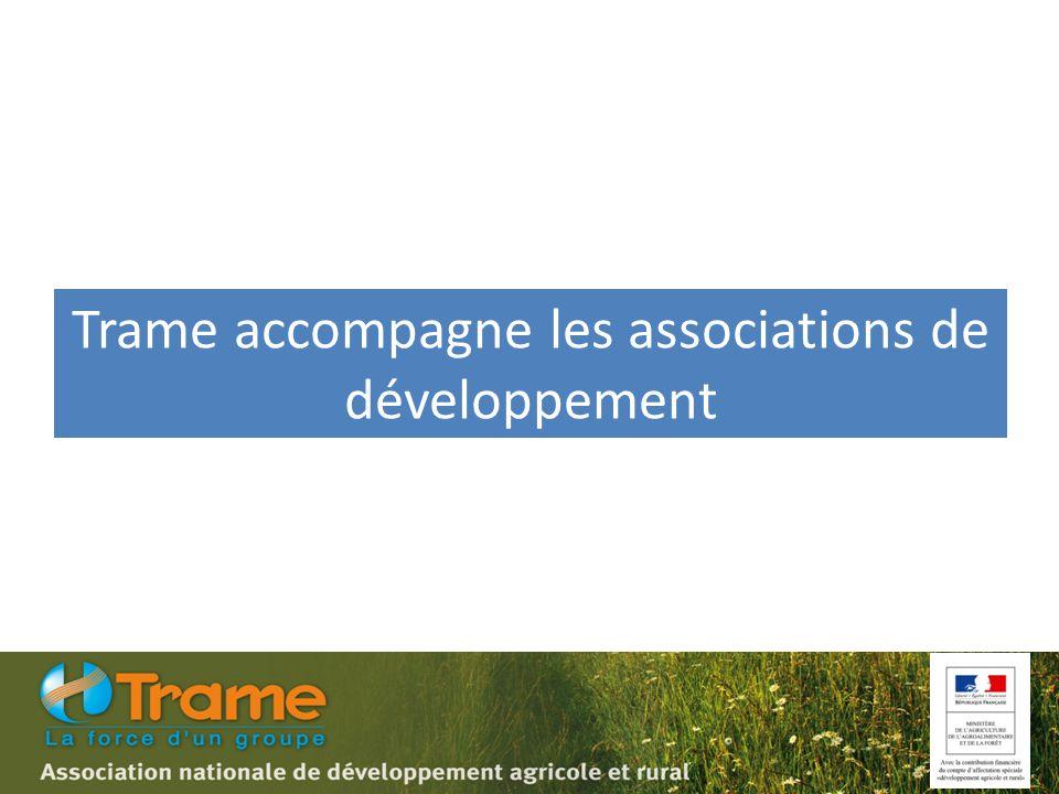 Trame accompagne les associations de développement