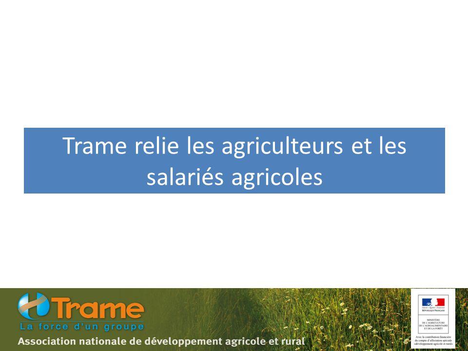 Trame relie les agriculteurs et les salariés agricoles