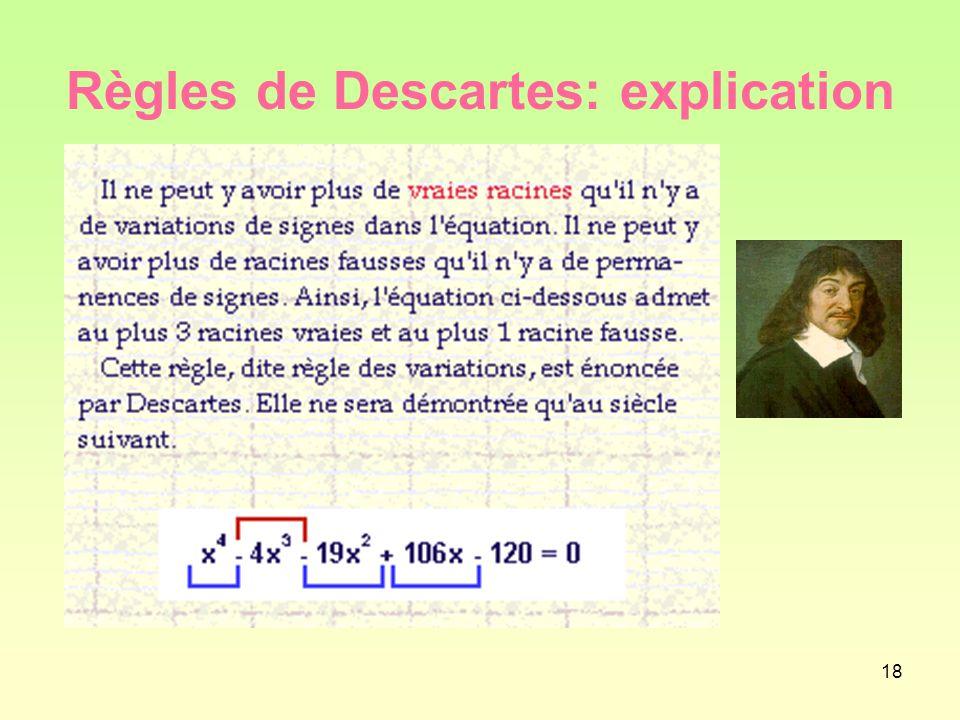 18 Règles de Descartes: explication