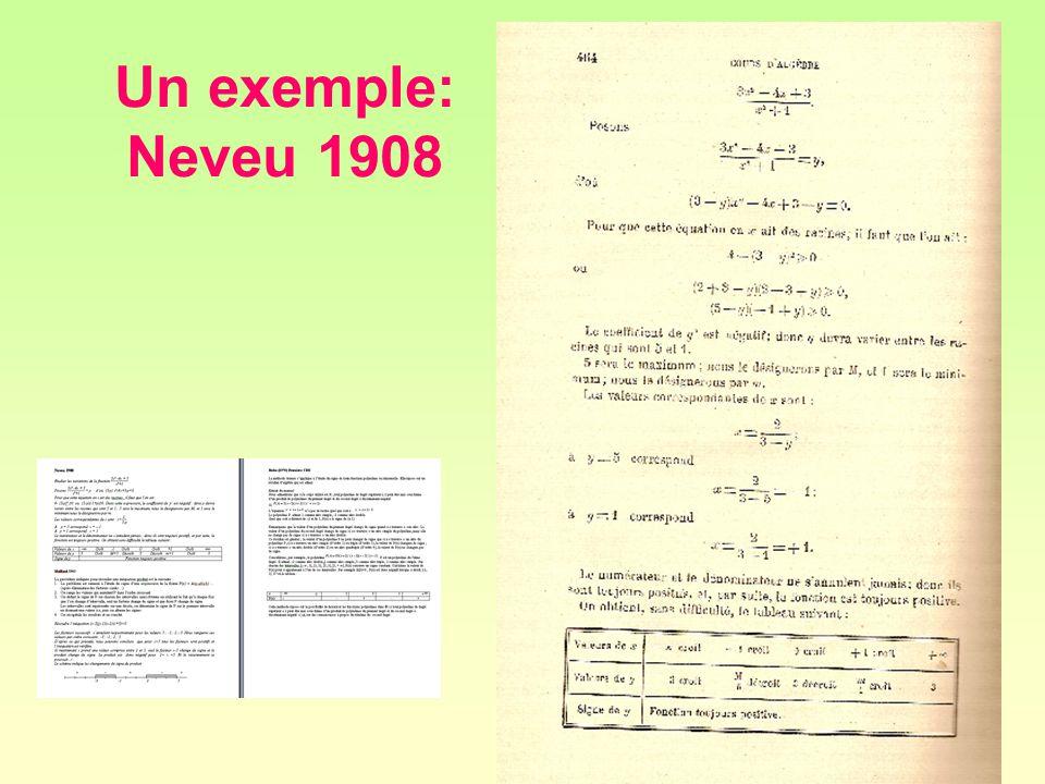 41 Un exemple: Neveu 1908