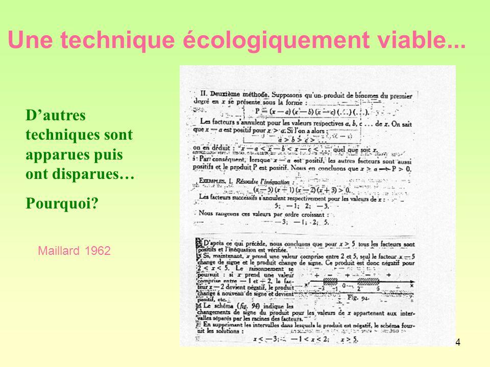 44 Une technique écologiquement viable...