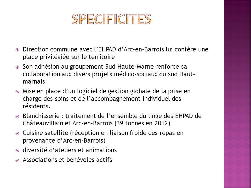  Direction commune avec l'EHPAD d'Arc-en-Barrois lui confère une place privilégiée sur le territoire  Son adhésion au groupement Sud Haute-Marne ren