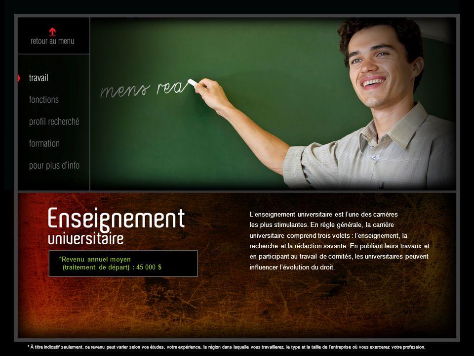L'enseignement universitaire est l'une des carrières les plus stimulantes. En règle générale, la carrière universitaire comprend trois volets : l'ense