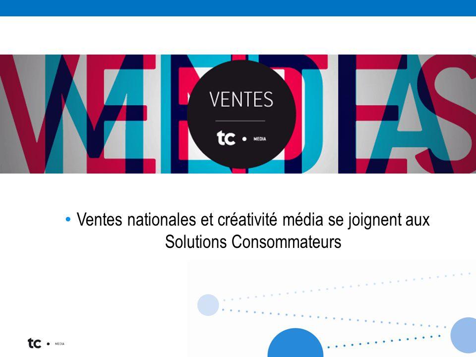Ventes nationales et créativité média se joignent aux Solutions Consommateurs
