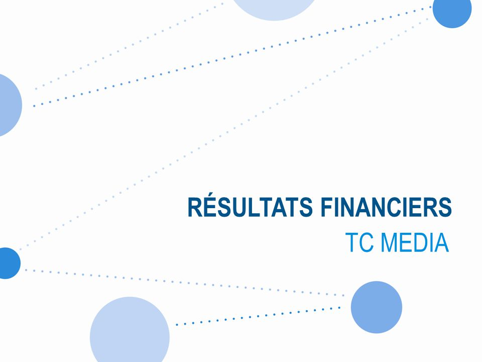 RÉSULTATS FINANCIERS TC MEDIA