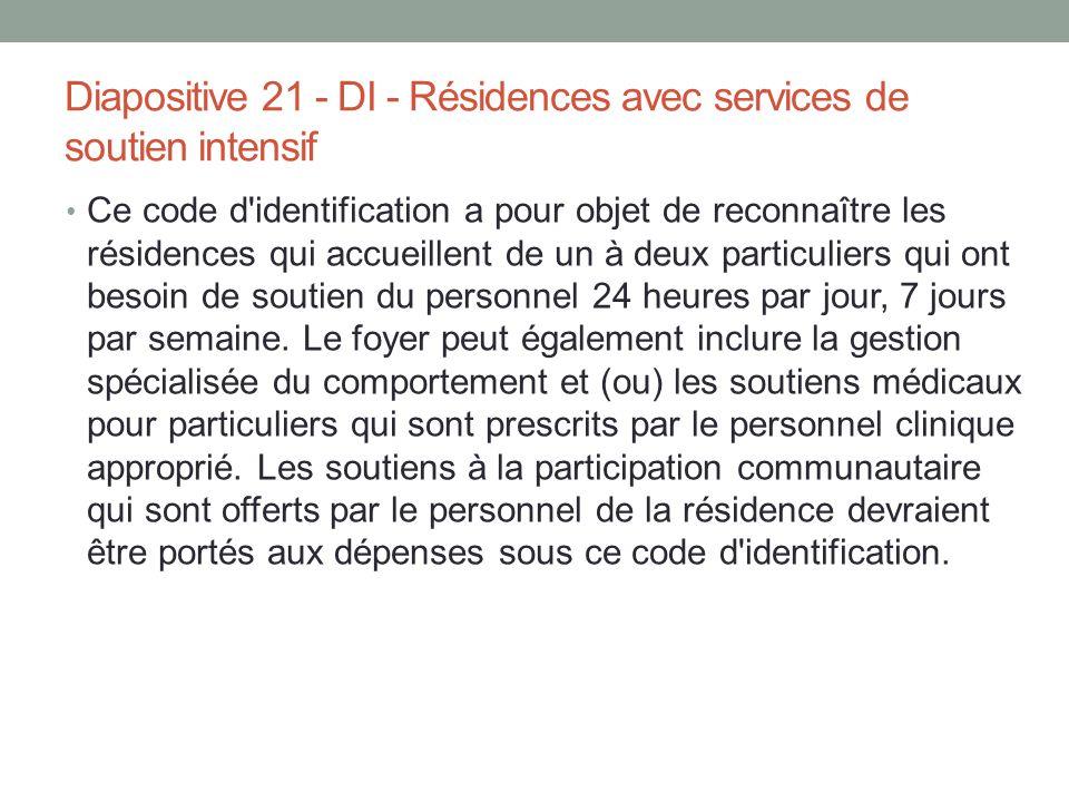Ce code d'identification a pour objet de reconnaître les résidences qui accueillent de un à deux particuliers qui ont besoin de soutien du personnel 2