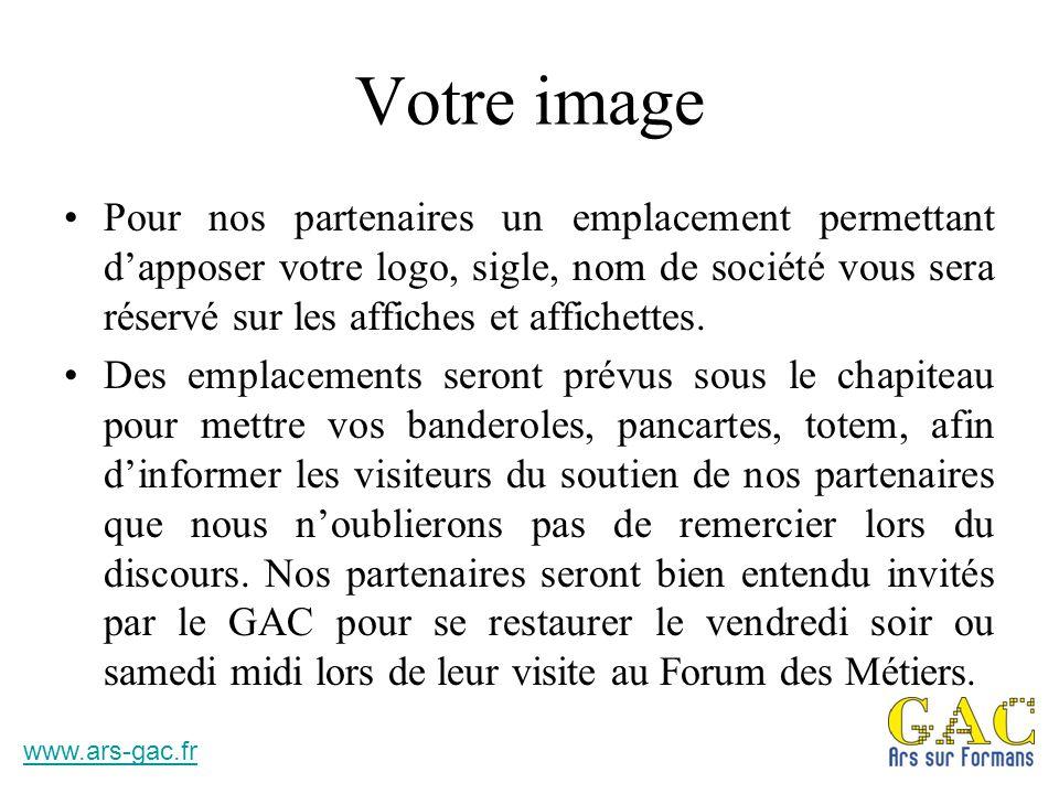 Nous découvrir Visitez notre site Internet www.ars-gac.fr Merci de l'intérêt que vous porterez à notre second Forum des Métiers, besoin de renseignements n'hésitez pas à nous contacter.