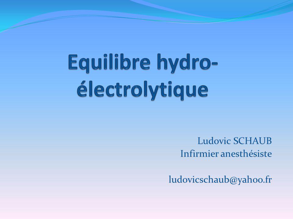 INTRODUCTION Equilibre du milieu intérieur grâce à : - hydratation normale - équilibre acide-base - équilibre anions-cations : Na, K, Ca, Mg, Cl, Phosphore, Sulfate, protéine.