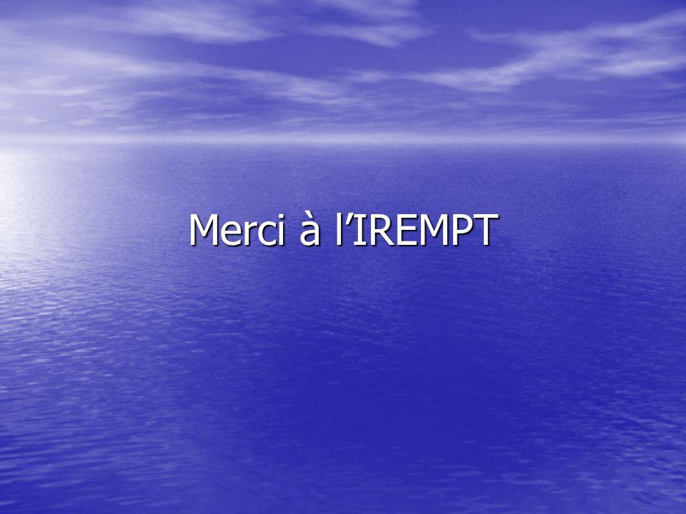 Merci à l'IREMPT