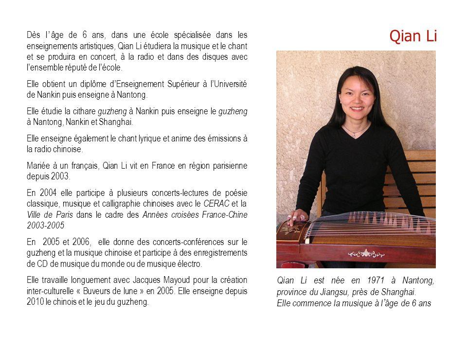 Qian Li est née en 1971 à Nantong, province du Jiangsu, près de Shanghai. Elle commence la musique à l'âge de 6 ans Dès l'âge de 6 ans, dans une école