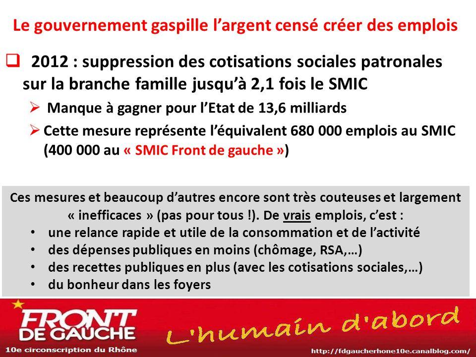 Emplois : les propositions du Front de Gauche