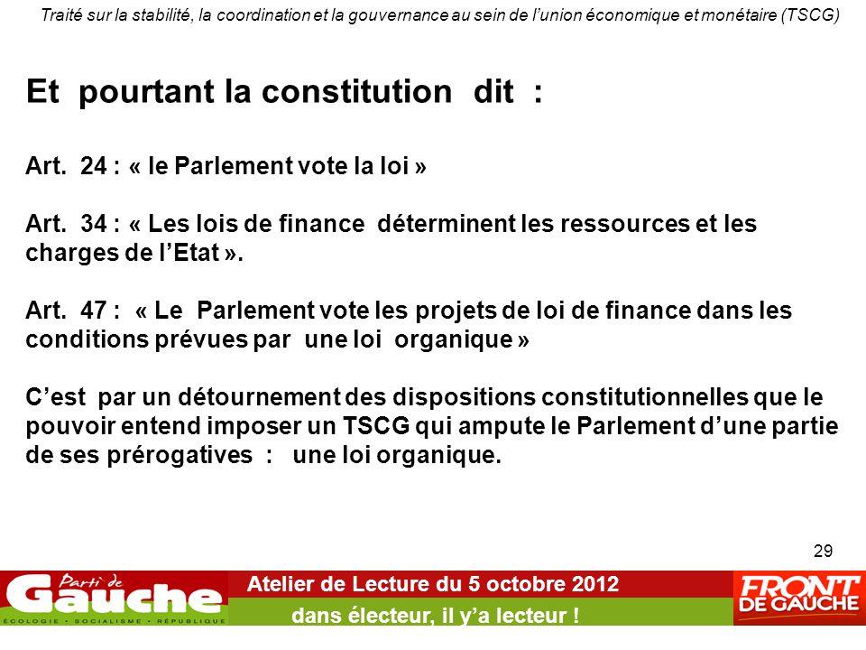 Atelier de Lecture du 5 octobre 2012 dans électeur, il y'a lecteur .