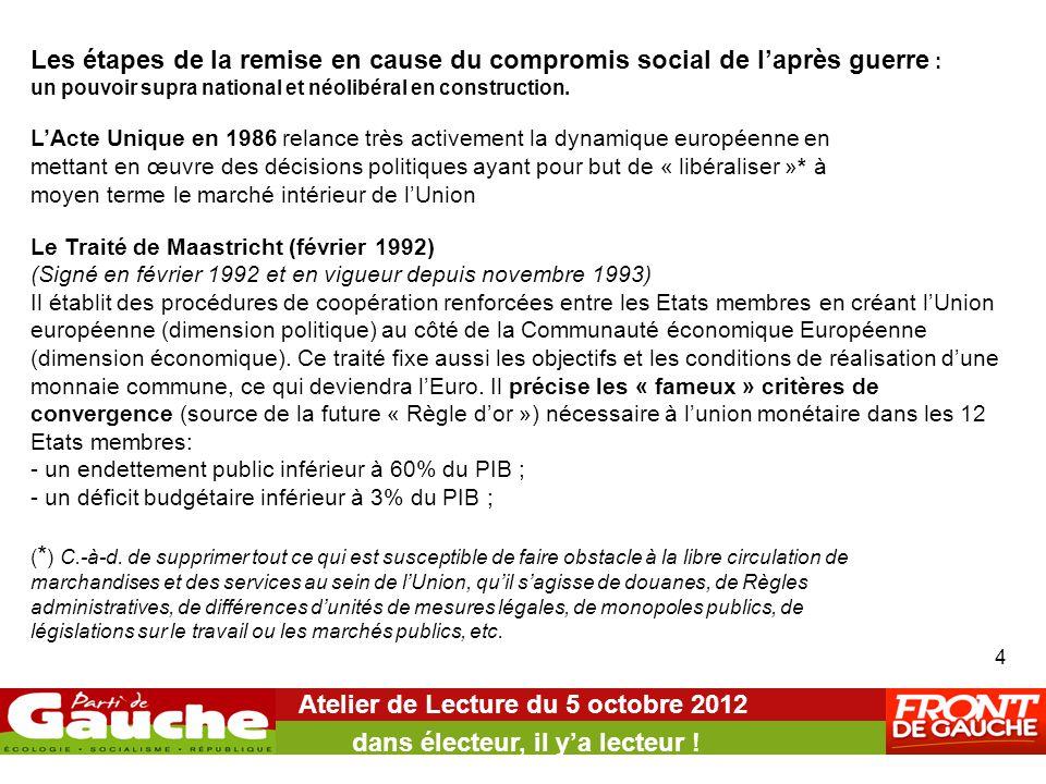 Atelier de Lecture du 5 octobre 2012 dans électeur, il y'a lecteur ! 4 Les étapes de la remise en cause du compromis social de l'après guerre : un pou