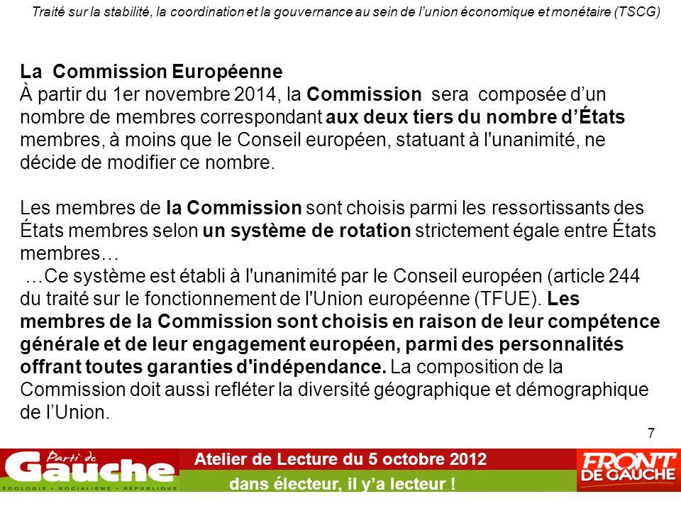 Atelier de Lecture du 5 octobre 2012 dans électeur, il y'a lecteur ! Traité sur la stabilité, la coordination et la gouvernance au sein de l'union éco