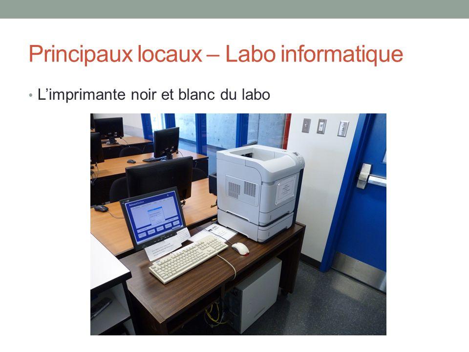 Principaux locaux – Labo informatique L'imprimante noir et blanc du labo