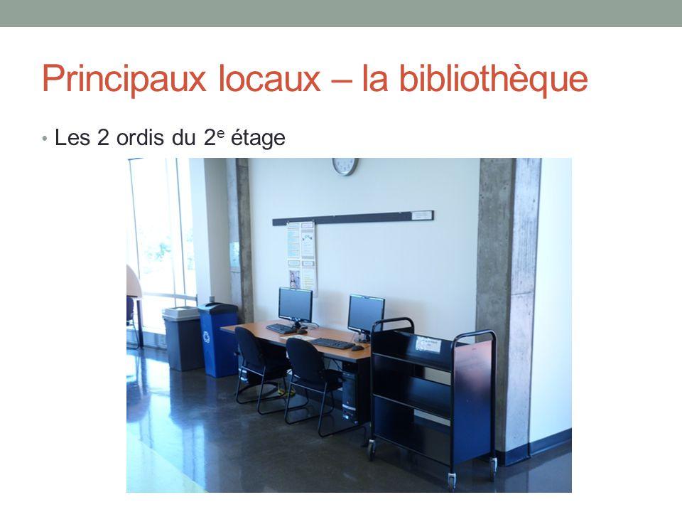 Principaux locaux – la bibliothèque La salle de reprographie au 1 er étage