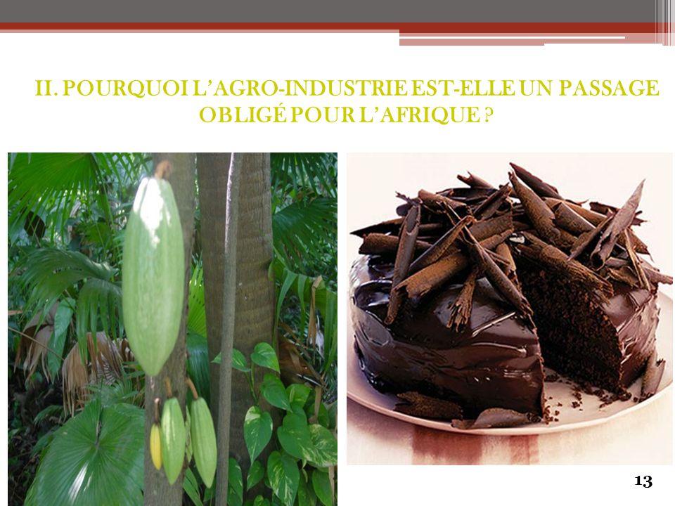 13 II. POURQUOI L'AGRO-INDUSTRIE EST-ELLE UN PASSAGE OBLIGÉ POUR L'AFRIQUE ?