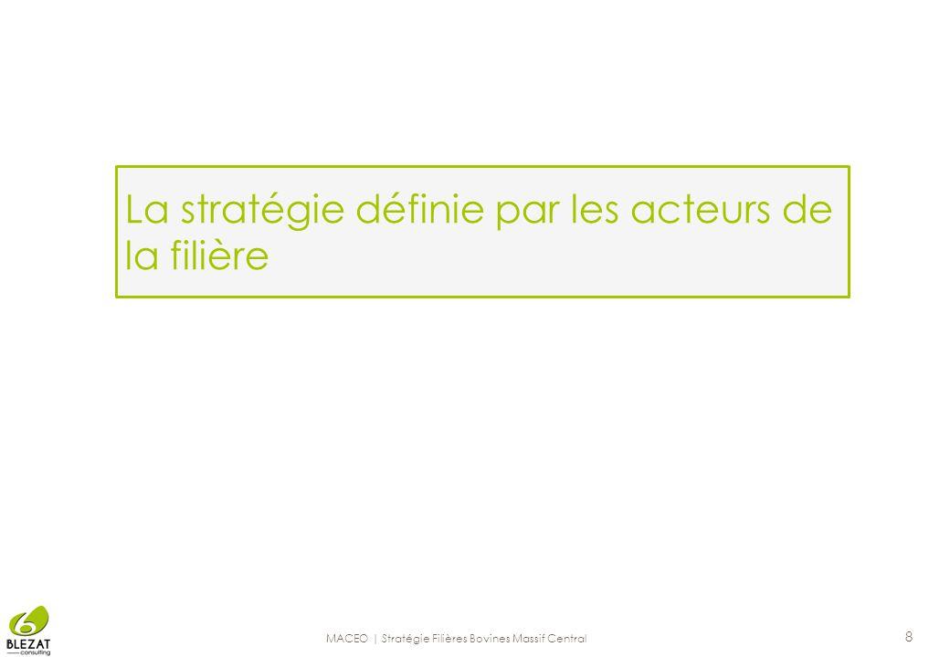 La stratégie définie par les acteurs de la filière 8 MACEO | Stratégie Filières Bovines Massif Central