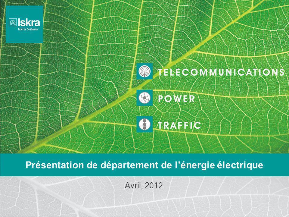 Présentation de département de l'énergie électrique Avril, 2012
