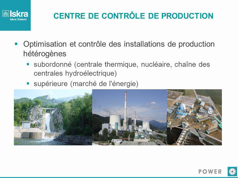 CENTRE DE CONTRÔLE DE PRODUCTION  Optimisation et contrôle des installations de production hétérogènes  subordonné (centrale thermique, nucléaire, c