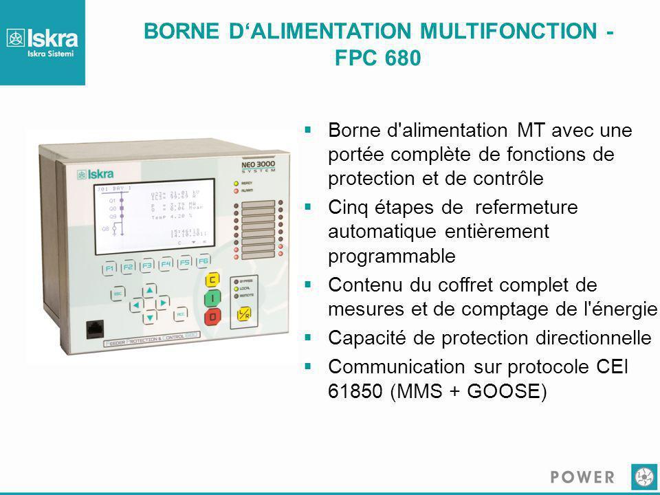 BORNE D'ALIMENTATION MULTIFONCTION - FPC 680  Borne d'alimentation MT avec une portée complète de fonctions de protection et de contrôle  Cinq étape