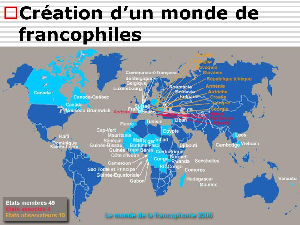  Création d'un monde de francophiles