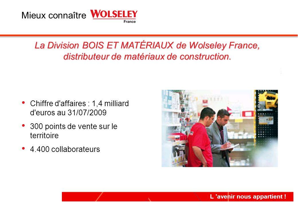 Chiffre d'affaires : 1,4 milliard d'euros au 31/07/2009 300 points de vente sur le territoire 4.400 collaborateurs Chiffre d'affaires : 1,4 milliard d