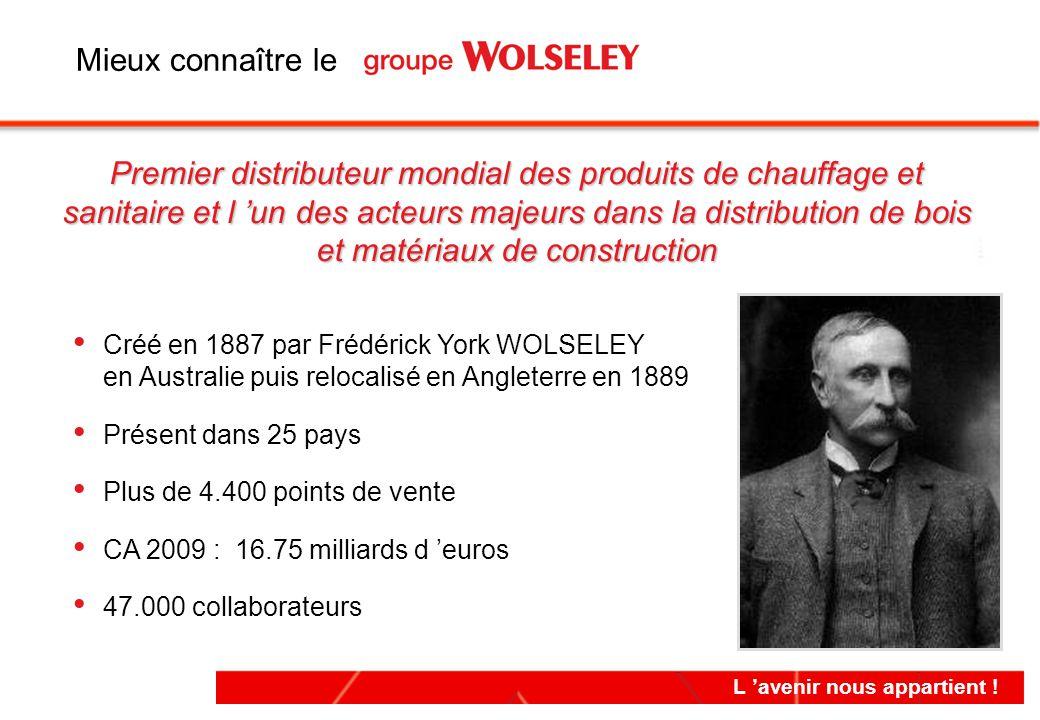 L 'avenir nous appartient ! Créé en 1887 par Frédérick York WOLSELEY en Australie puis relocalisé en Angleterre en 1889 Présent dans 25 pays Plus de 4