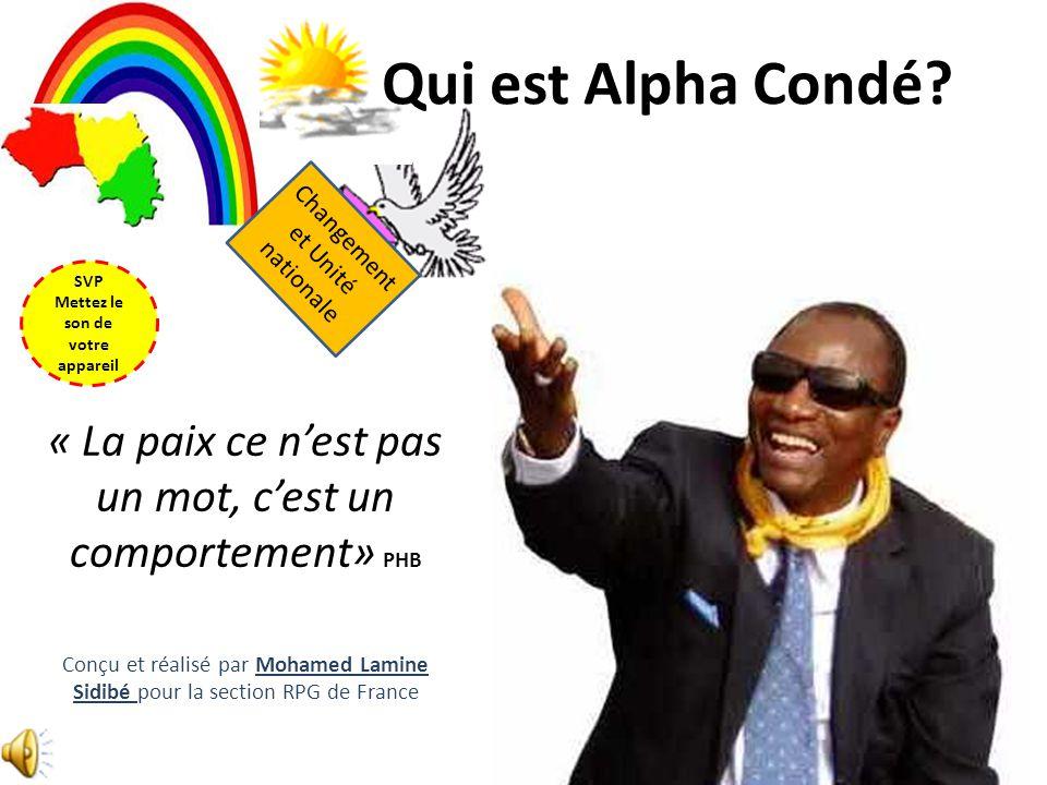 Qui est Alpha Condé.