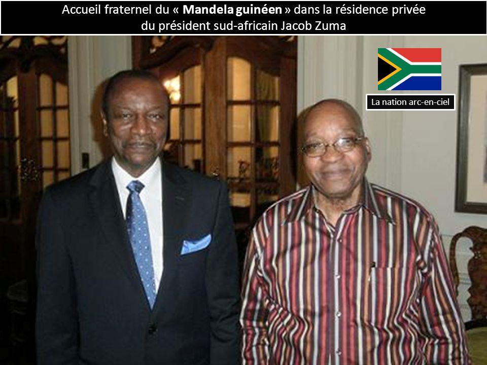 Accueil fraternel du « Mandela guinéen » dans la résidence privée du président sud-africain Jacob Zuma La nation arc-en-ciel