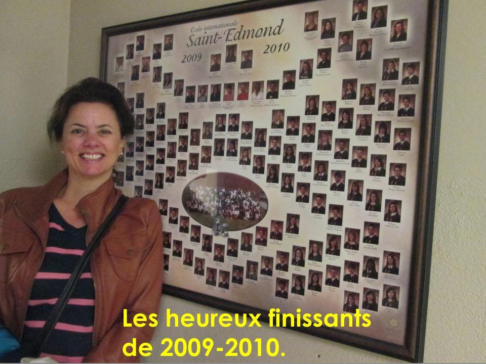 Les heureux finissants de 2009-2010.