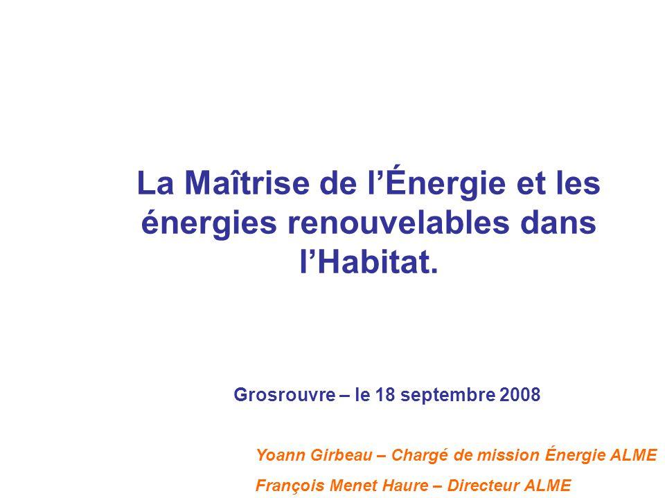 Agence Locale de Maîtrise de l'Énergie de Saint Quentin en Yvelines Missions principales -Sensibilisation et formation dans les domaines de l'énergie et de l'environnement -Animation et organisation de manifestations -Conseils et soutiens techniques en énergétique -Accompagnement des maîtres d'ouvrage sur le montage technico- économique des volets énergie et environnement de leurs projets -Études d'expertises : conseils d'orientation énergétiques, conseils en énergie partagée… Présentation de l'ALME