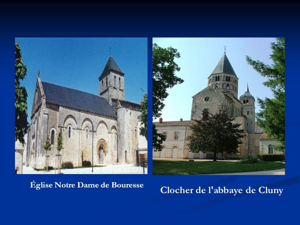 Clocher de l'abbaye de Cluny Église Notre Dame de Bouresse
