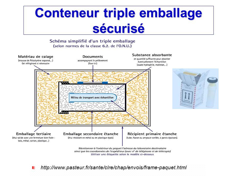 Conteneur triple emballage sécurisé http://www.pasteur.fr/sante/clre/chap/envois/frame-paquet.html