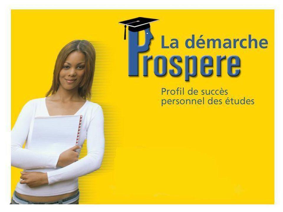 Objectifs de l'enquête PROSPERE Accroître la persévérance et la réussite des études.