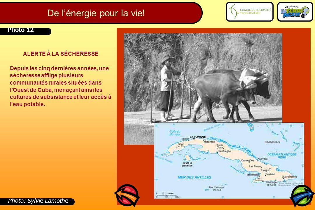 Photo 12 ALERTE À LA SÉCHERESSE Depuis les cinq dernières années, une sécheresse afflige plusieurs communautés rurales situées dans l'Ouest de Cuba, m