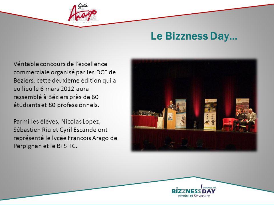 Véritable concours de l'excellence commerciale organisé par les DCF de Béziers, cette deuxième édition qui a eu lieu le 6 mars 2012 aura rassemblé à B