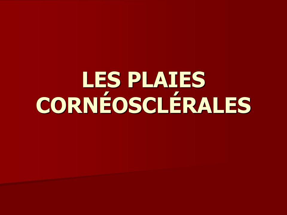 LES PLAIES CORNÉOSCLÉRALES