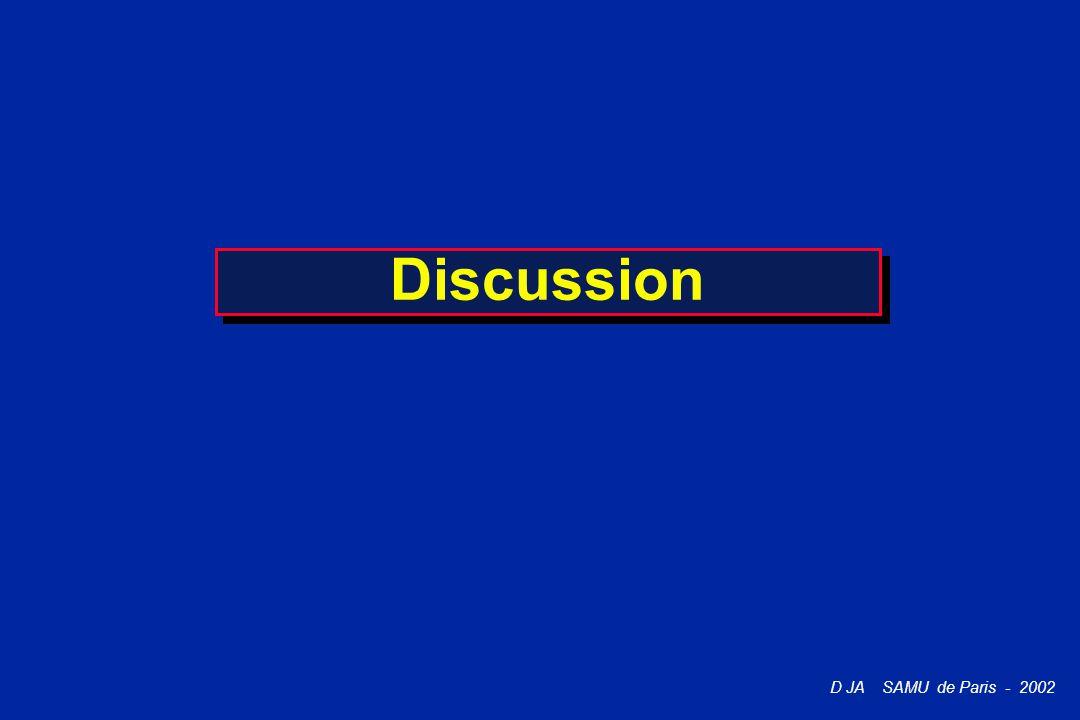 D JA SAMU de Paris - 2002 Discussion
