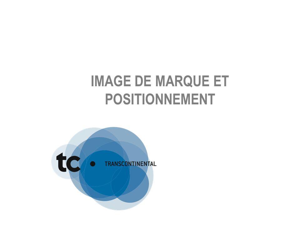 IMAGE DE MARQUE ET POSITIONNEMENT
