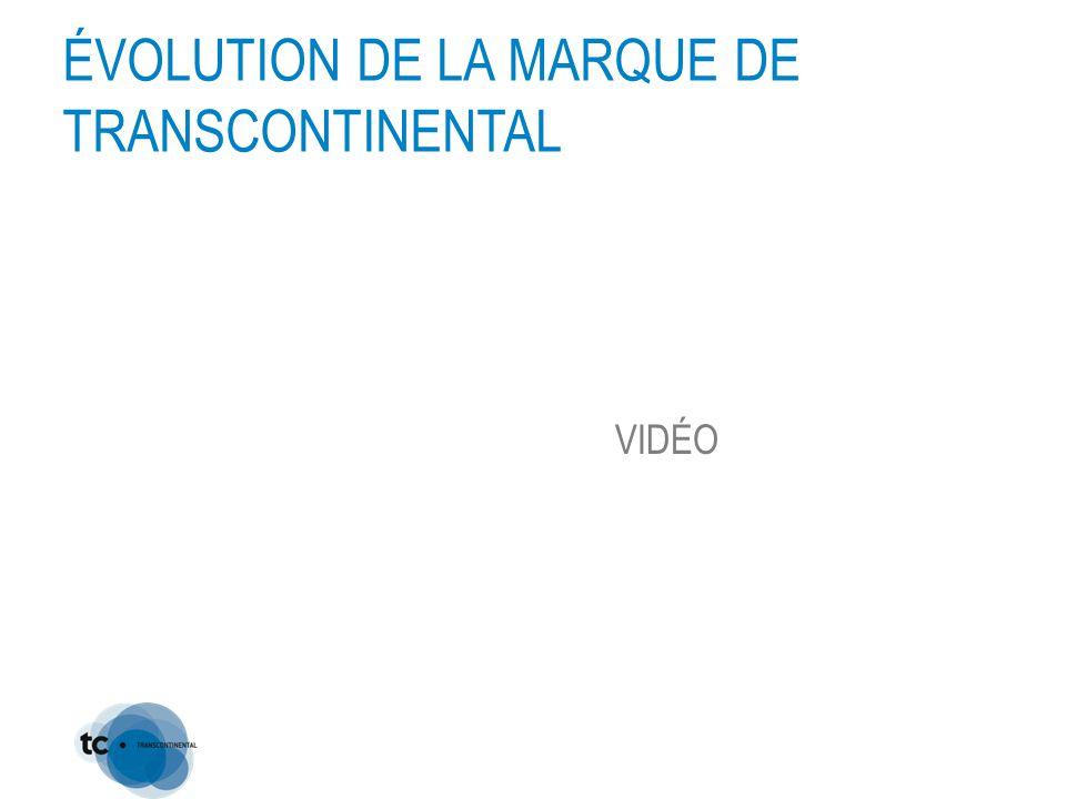 ÉVOLUTION DE LA MARQUE DE TRANSCONTINENTAL VIDÉO