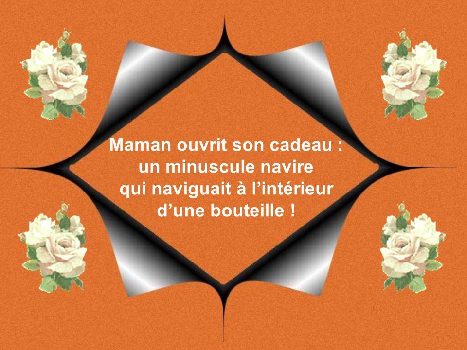 Thibault, cependant, ne put attendre le dimanche pour donner sa fabuleuse surprise : le soir même, Maman ouvrit son cadeau :